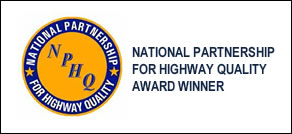NATIONAL PARTNERSHIP FOR HIGHWAY QUALITY AWARD WINNER